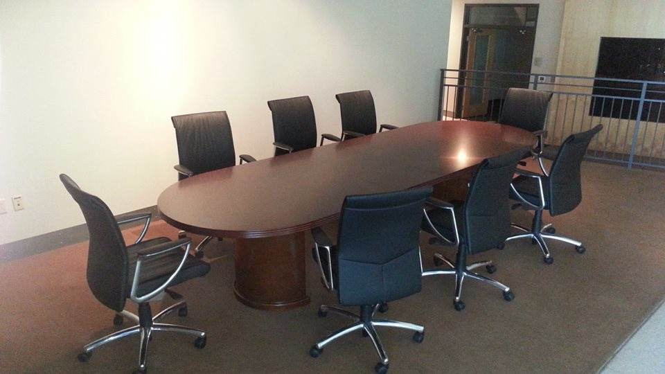 Kent Series 12 ft. Conference Table w/Encore Leather Seating