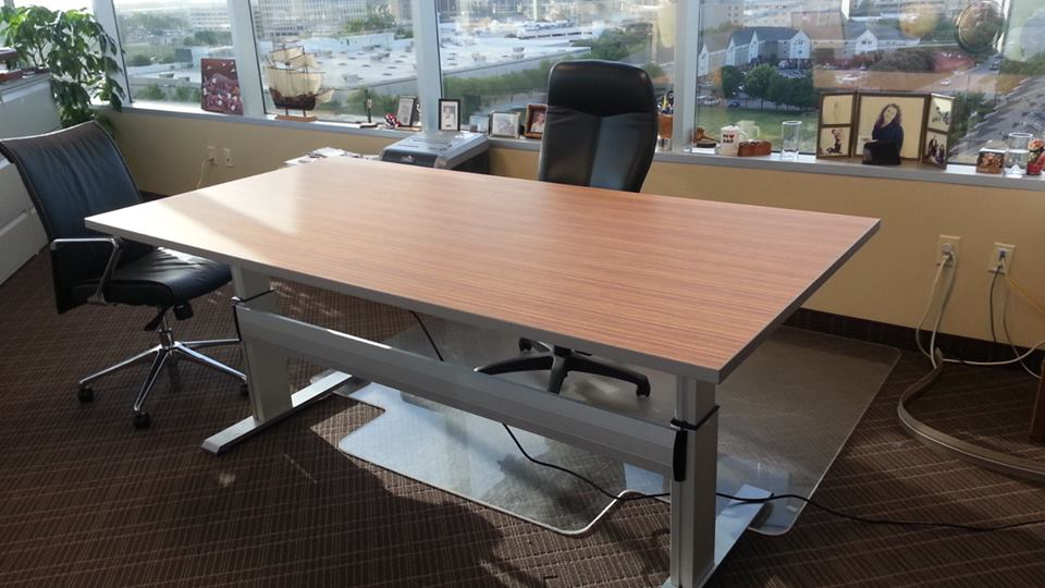 InYourOffice creates a CUSTOM Electric Height Worktable.